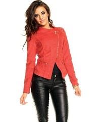 Chic Et Jeune Červená bunda z umělé kůže