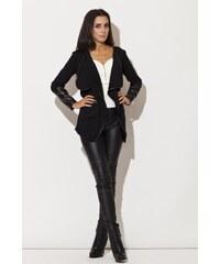 Černý úpletový kabátek Katrus K112