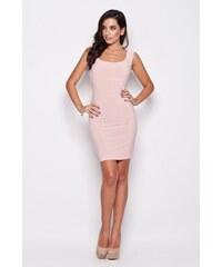 Růžové šaty Katrus K081