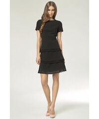 Něžné černé šaty Nife