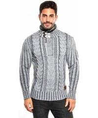Pánský pletený svetr CE&CE - šedý
