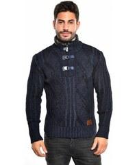 Pánský pletený svetr CE&CE - tmavě modrý
