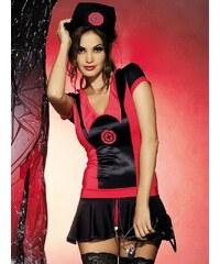 Sexy kostým Obsessive Naughty nurse dress Černá_Červená