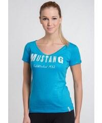 Dámské tričko Mustang 8528210 tyrkysová 527