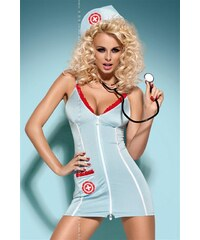 Sexy kostým Doctor dress - Obsessive Modrá