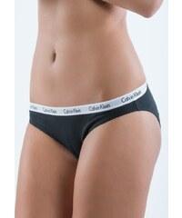3-PACK dámských kalhotek Calvin Klein D1623E Černo-bílá