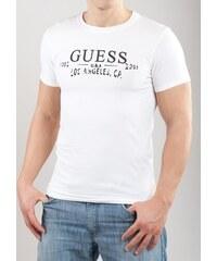 Pánské tričko Guess UCPM29 bílá Bílá