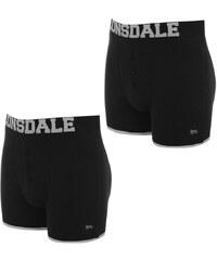 Boxerky Lonsdale 2 Pack Boxers pán. černá/stříbrná
