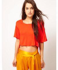 Kore by Sophia Kokosalaki - T-shirt à ourlet plongeant - Orange