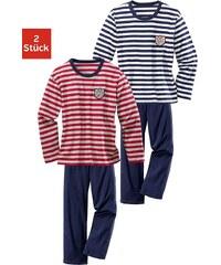H.I.S Pyjama (2 Stück), mit garngefärbtem Streifen