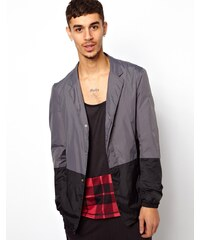 ASOS Black ASOS - Veste de costume color block - Gris