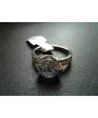 Prsten z chirurgické ocele s krystaly P2