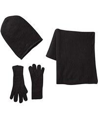 PIECES Damen Mütze, Schal & Handschuh Geschenk Set 3 teilig