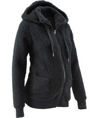 bpc bonprix collection Umstandsjacke aus Teddy-Fleece langarm in schwarz für Damen von bonprix