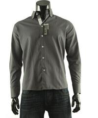 Pánská Košile s dlouhým rukávem Black Rock - tmavě šedá