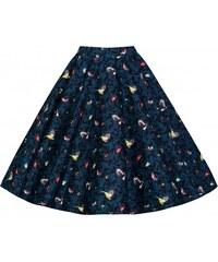 PEGGY Blue Bird kolová sukně inspirovaná padesátými léty