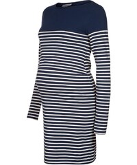 JoJo Maman Bébé BRETON Jerseykleid navy/ecru stripes