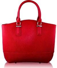 L&S Fashion (Anglie) Kabelka LS00104 tmavěčervená (burgundy)