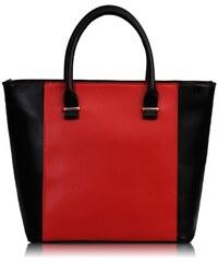 L&S Fashion (Anglie) Kabelka LS0076 černočervená