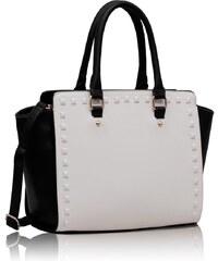 L&S Fashion (Anglie) Kabelka LS00150S černobílá
