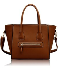 L&S Fashion (Anglie) Kabelka LS00125 hnědá