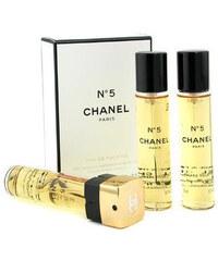 Chanel No. 5 - toaletní voda s rozprašovačem (3 x 20 ml) 60 ml