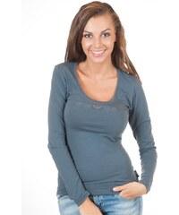 Dámské tričko Emporio Armani 163378 4A263 šedé Lino91