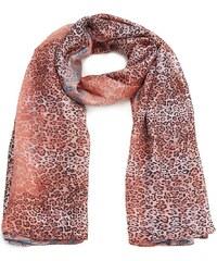 Dlouhý hedvábný šál, šátek na krk INTRIGUE rosa