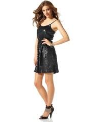 Třpytivé šaty s flitry, pajetkové šaty, flitrové šaty Laura Scott Evening 34 černá