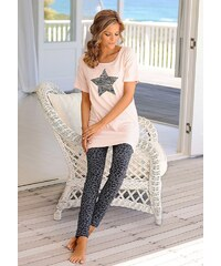 Buffalo Pyjama mit Leoleggings & Longshirt mit Sternprint