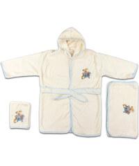 Svitap Dětská modrá koupelnová sada - župánek, ručník, žínka