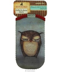 Santoro London - iPhone 4/4S/5/5C/5S Pouzdro - Grumpy Owl