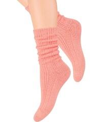 Ponožky Steven 017-1 - výprodej, oranžová