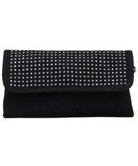 Dámská malá kabelka / psaníčko Phil, s ozdobnými kamínky - černá barva