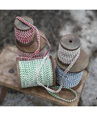 Nkuku Cívka s XL provázkem zelená / krémová