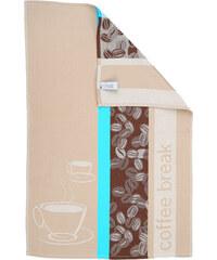 Jules Clarysse Kuchyňská utěrka Coffee Break Turquoise