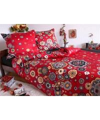 Sweet Home Saténový povlak na polštář Rosali Red Rozměr: 40x40 cm, Materiál: Bavlněný satén