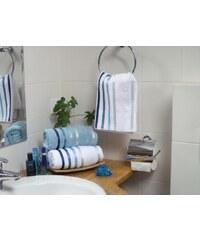 Karsten Froté ručník Lumina - Bílý s modrými proužky Rozměr: 50x80 cm