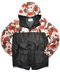 bunda K1X - Fullcourt Mountain Parka Black/Desert Rose Ca (9051)