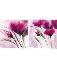 Wandbild-Set, »Le jour en rose«, Premium Picture (2tlg.)