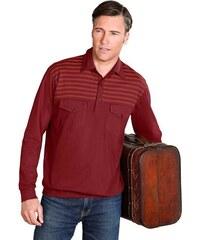 Poloshirt mit Bündchen an Ärmeln und Saum