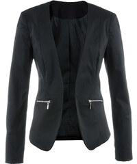 bpc selection Blazer langarm in schwarz (V-Ausschnitt) für Damen von bonprix