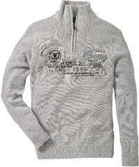 bpc selection Troyer-Pullover langarm in grau für Herren von bonprix