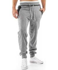 Pánské sportovní kalhoty Baggy šedé - šedá
