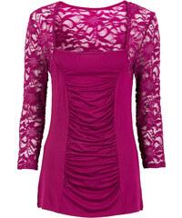 BODYFLIRT Shirt 3/4 Arm in pink für Damen von bonprix