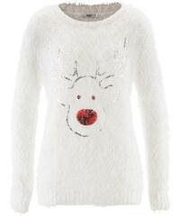 bpc bonprix collection Langärmliger Pullover in weiß für Damen von bonprix