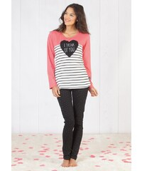 Dámské pyžamo CTM Think PlgB XL Růžová, růžová