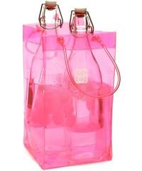 Růžová chladící taška na dvě láhve Ice bag Basic King Size