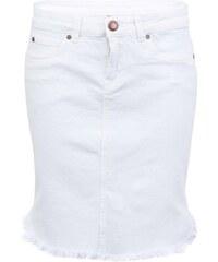 Bílá džínová sukně Vero Moda Brix