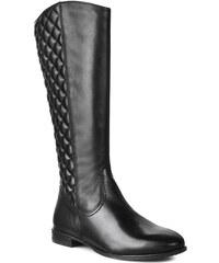 Kozačky ve vojenském stylu TAMARIS - 1-25596-23 Black Stitched 094